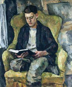 Retrato de Mikhail Konchalovsky, filho do artista sentado numa poltrona, 1921 Petr Konchalovsky (Rússia, 1876 – 1956) óleo sobre tela, 119 x 140 cm