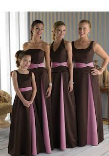 Brown And Pink Bridesmaid Dresses 30