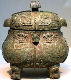 Bronze jar, Zhou Dynasty. #chinese