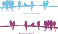 Birds on a branch love birds wall art sticker decal