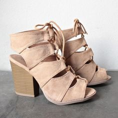 summer nights cut out laced up block heel sandals (more colors) - shophearts - 11