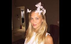 Bar Refaeli Reveals Her Wedding Dress That Only a Supermodel Could Pull Off - - Check out Bar Refaeli's unconventional Chloe wedding dress. Bar Refaeli, New York Wedding, Red Wedding, Wedding Day, Demi Lovato Haircut, Campground Wedding, Gold Color Palettes, South Indian Weddings, Museum Wedding