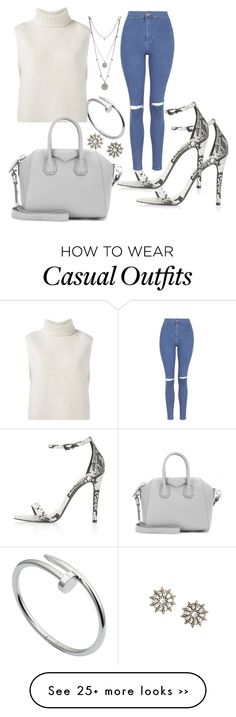 """#casual"" by emzstyles on Polyvore featuring Topshop, Étoile Isabel Marant, Givenchy, Vince Camuto and Cartier"