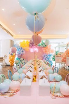 The table settings at this ice cream birthday party will blow your mind! The table settings at this ice cream birthday party will blow your mind! See more party idea - Unicorn Birthday Parties, Unicorn Party, First Birthday Parties, Birthday Party Decorations, First Birthdays, Pastel Party Decorations, Birthday Ideas, Birthday Table, Colorful Birthday Party
