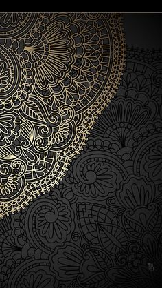 Mandala wallpaper vintage wallpaper background mandala design in Iphone Wallpaper Mandala, Gold Wallpaper Phone, Pearl Wallpaper, Paisley Wallpaper, Custom Wallpaper, Mandala Wallpapers, Black Wallpaper, Beautiful Wallpaper, Mandalas Painting