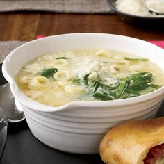 "Spinach and Egg-Drop Pasta Soup | ""In our house, stracciatella was a ..."