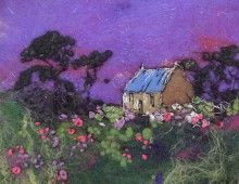 Moy Mackay ve Keçe Çalışmaları Felt Fabric, Fabric Art, Wet Felting, Needle Felting, Felt Pictures, Cottage Art, Wool Art, Textile Fiber Art, Thread Painting