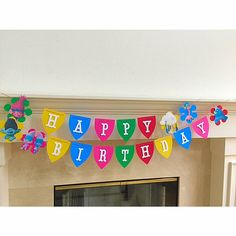 This listing is for a handcrafted TROLLS Birthday Banner. It is sturdy and colorful. Each pennant measures 5 3/4 by 4. The banner is created using 6 Troll characters. The characters are digitally printed and hand cut. Each of the characters are attached onto a layer of quality cardstock die cuts. The banner is strung using red and white bakers twine Letters are 3 and attached with 3D foam squares. Your childs name can be added for $1.75 a letter. It is super cute and colorful :)  Please…