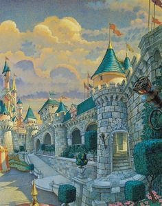 Disneyland Paris Castle artwork by Disney Imagineers