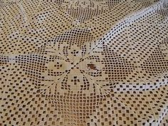 Crocheted Double Bed Coverlet Cutter | eBay