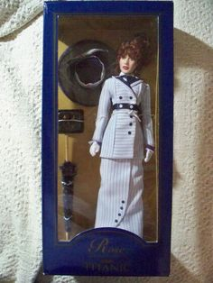 Franklin Mint Titanic Rose DeWitt Bukater Doll in Box Boarding Suit Kate Winslet #FranklinMint #DollswithClothingAccessories