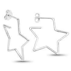 """Lovely new sterling silver """"Stellar"""" Star earrings for pierced ears by AlohaSparklingJewels on Etsy Moon And Star Earrings, Gift Box Design, Glass Jewelry, Jewellery, Silver Stars, Vintage Rhinestone, Designer Earrings, Ear Piercings, Vintage Jewelry"""