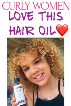 This Hair oil is perfect for curly hair. This all natural oil will make curls pop + soften and condition. Read more now! #hair #longhair #curlyhair #curlyhairstyles #curlyhairideas #curlygirl #curlyblackhairstyles #curlygirlmethod #curlyhairstylesnaturally #hairgrowth #hairoil #curlyhairproducts Oily Hair, Moisturize Hair, Thick Hair Problems, Reverse Hair Loss, Soften Hair, Hair Protein, Hair Thickening, Hair Vitamins, Natural Oil