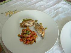 Anchois  aux   becfigue   sauce   vert    et  legumes  ''(caponata)''    Gino D'Aquino ''  ^ _ ^ _ ^ _ ^ _ ^  <^>