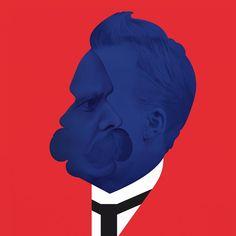 'Become who you are' Portrait of Friedrich Nietzsche for Philosophie magazine, issue no.104. Thanks @williamlondiche #julesjulien