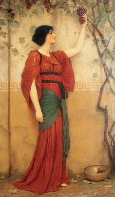 John William Godward (1861-1922)  Autumn  Oil on canvas  1900