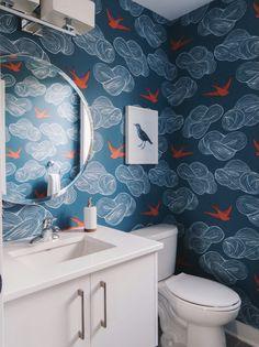 Daydream (Blue) Bathroom; design by Leclair Decor