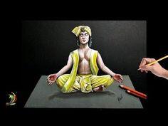 Radha Krishna Songs, Krishna Art, 3d Drawings, Realistic Drawings, 3d Drawing Tutorial, 3d Painting, Illusion Art, Art Tips, Illusions