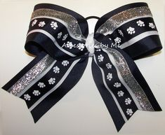 Items similar to Big Cheer Bow, Blue Nittany Lions Cheerbow, Penn State Spirit Cheerleader Bow, Navy White Silver Sparkly Ribbon, Girls Cheer Team Hair Clip on Etsy Football Hair Bows, Softball Bows, Cheerleading Bows, Football Cheerleaders, Softball Stuff, Volleyball, Big Cheer Bows, Big Bows, Competition Bows