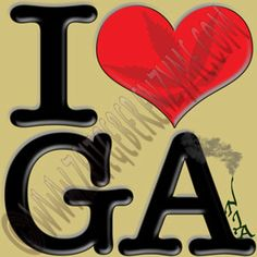 "Slow Southern Style.  Help make Georgia greener. Up close ""I [heart] GA"" actually reads ""I love Ganja"".  http://www.cafepress.com/thenaughtynook/10414926"