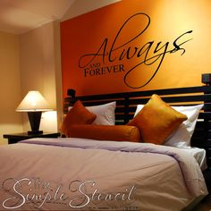 Romantic wall art design - Always and Forever - Try it in various color combinations here!