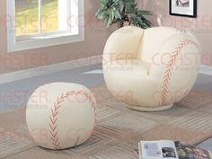 would be the cutest for in James' room!                      Save $269.55 on Children Baseball chair and Ottoman; only $330.44