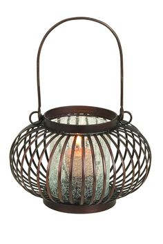Metal Glass Lantern - Bronze on HauteLook     nice candle holder