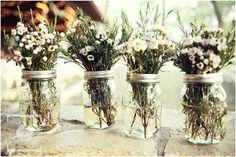 Wild flower mason jar