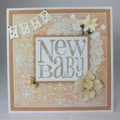 Handmade new baby card £3.75