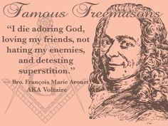 Eu vou morrer adorando a Deus, amando meus amigos, não odiando os meus inimigos, e detestando superstição.