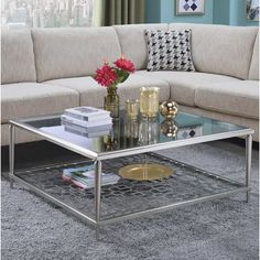 Purchase Padwal Coffee Table By Orren Ellis Coffee Table Metal Frame, Silver Coffee Table, Glass Top Coffee Table, Lift Top Coffee Table, Coffee Table Design, Coffee Table With Storage, Decorating Coffee Tables, Modern Home Furniture, Fine Furniture