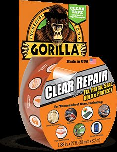 Gorilla Glue Clear Tape - New product that boast the use as being able to repair a cracked smart phone.  I do believe it!