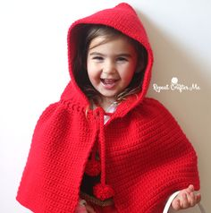 Crochet a costume! This Little Red Riding Hood Cape is an easy pattern (made up of simple single crochet stitches!) and the perfect addition to a Red Riding Hood outfit! Pattern is child size but I believe it will actually fit a wide range of ages. If you are looking for a handmade Halloween idea, …