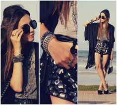 Beach black (by Flávia Desgranges van der Linden) http://lookbook.nu/look/4308359-beach-black
