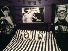 The perfect bedroom for Mr. & Mrs. Frankenstein  credit to @piercedoff