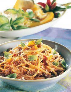 Linguine con ragù di tonno e peperoni - Tutte le ricette dalla A alla Z - Cucina Naturale - Ricette, Menu, Diete