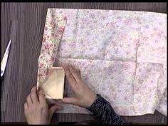Tutorial caja de cartón forrada con tela - YouTube