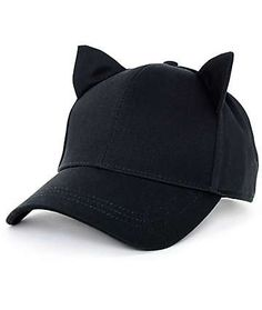 Empyre Cat Ear Onyx Black Strapback Hat Orelhas De Gato 039329d1a1a