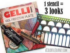 Video using one stencil three ways with a Gelli Plate® Stencils by Carolyn Dube for StencilGirl.
