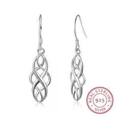 Buy 925 Sterling Silver Earrings for Women Braided Shape Dangle Drop Earrings Simple Jewelry Anniversary Gift (Lam Hub Fong) Simple Earrings, Simple Jewelry, Women's Earrings, Fine Jewelry, Silver Drop Earrings, Sterling Silver Earrings, Silver Jewelry, Silver Bracelets, Silver Rings