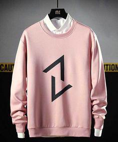 Men's pink up down arrow print pull over sweatshirt Sweatshirts Online, Mens Sweatshirts, Stylish Hoodies, High Fashion Men, Men Photoshoot, Men Store, Graphic Sweatshirt, T Shirt, Printed Shirts