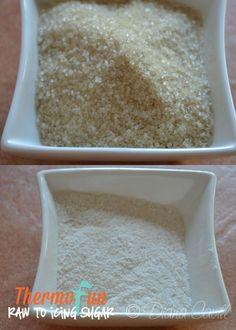 ThermoFun - Techie Tuesday - Raw Sugar to Icing Sugar - ThermoFun | making decadent food at home |