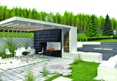 Outdoor Fireplace with Pergola . Outdoor Fireplace with Pergola . Modern Gazebo Plans for Backyard Backyard Pavilion, Backyard Gazebo, Outdoor Gazebos, Backyard Canopy, Garden Gazebo, Canopy Outdoor, Outdoor Rooms, Pergola Canopy, Gazebo Roof