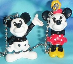 Custom Two Antique Style Mickey Minnie Ceiling Fan Pull Chains | eBay