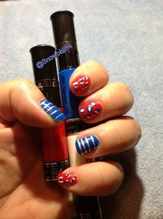 Fourth of July Nails done with Migi Nail Art