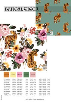 Aqui-Tropical-Floral-prints-SS 2022-vol-2 Textile Patterns, Textile Design, Pixel Design, Ral Colours, Duvet Cover Design, Modern Artwork, Pattern Books, Color Trends, All Design