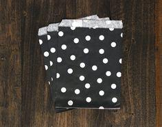 Black Polka Dot Paper Treat Bags  Wedding Decor by BoxandBowsupply, $3.00