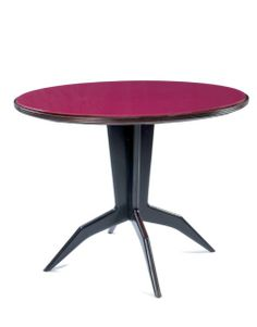 Gio Ponti; Rosewood and Glass Occasional Table for Giordano Chiesa, 1952.