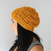Oxford Basket Weave Textured Beanie - via @Craftsy