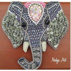 Брошь слоник. Слон. Elephant brooch. Indian elephant. (@nadya_art_handmade) в Instagram: «Слон мальчик или слон девочка? Африканский или индийский? Как думаете? Неделька - и брошь…»